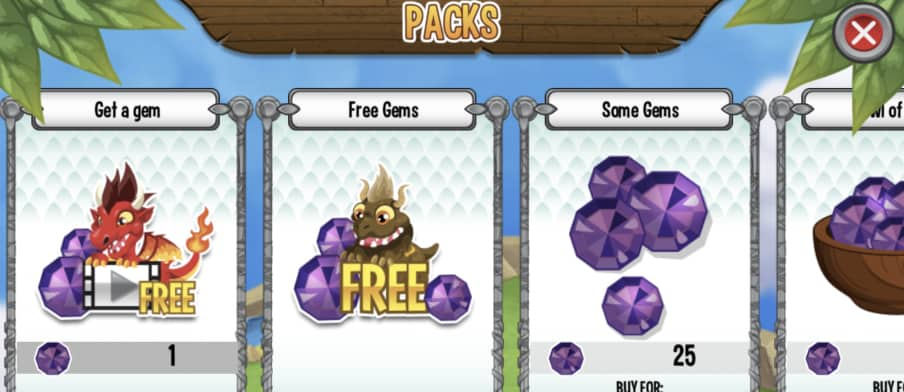 dragon city free gems from videos