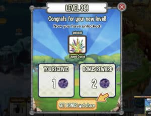 dragon city level up for gems