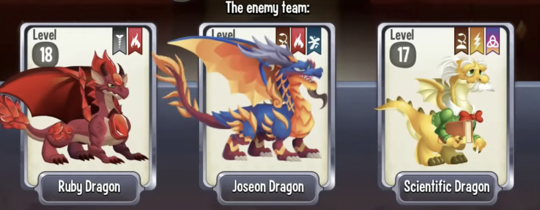find best dragon with battle chart in dragon city