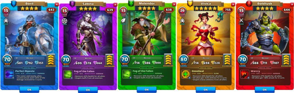 defensive healer empires and puzzles
